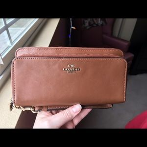 Coach Madison Accordion Double Zip Wallet/Clutch